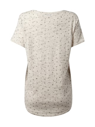 Maison Scotch T-Shirt mit Message-Flockprint Offwhite - 1