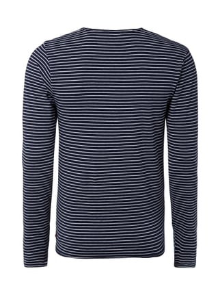 Scotch & Soda T-Shirt mit Streifenmuster Marineblau - 1