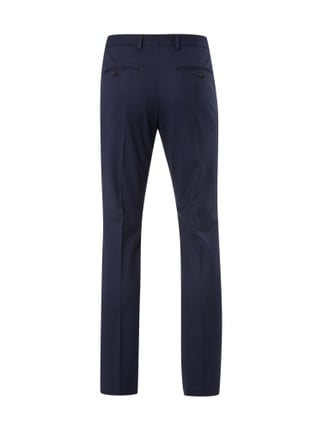 Selected Homme Business-Hose mit Webmuster Dunkelblau - 1