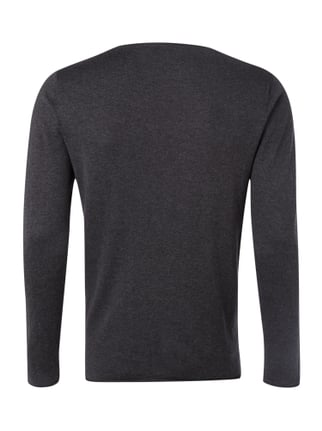 Selected Homme Pullover aus Baumwoll-Seide-Mix Anthrazit - 1