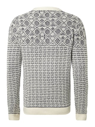 Selected Homme Pullover mit Norweger-Dessin Royalblau - 1