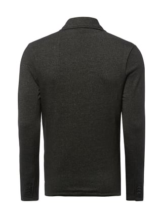 Selected Homme Sweatsakko in Melangeoptik Hellgrau - 1