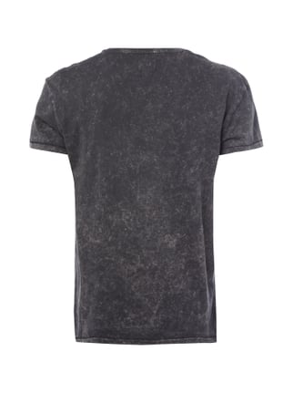 Selected Homme T-Shirt im Acid Washed Look Anthrazit - 1