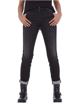 Silver Jeans Aiko High Skinny - Jogg Jeans 5-Pocket im Used Look Anthrazit - 1