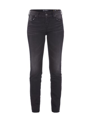 Aiko High Skinny - Jogg Jeans 5-Pocket im Used Look Grau / Schwarz - 1