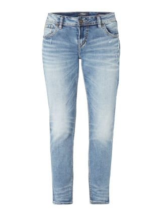 Destroyed Boyfriend Jeans Blau / Türkis - 1