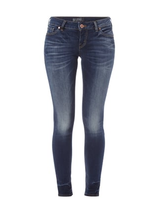 Double Stone Washed Jeans im Skinny Fit Blau / Türkis - 1
