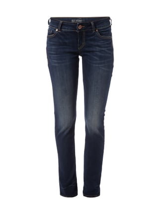 Slim Fit Jeans im Stone Washed-Look Blau / Türkis - 1