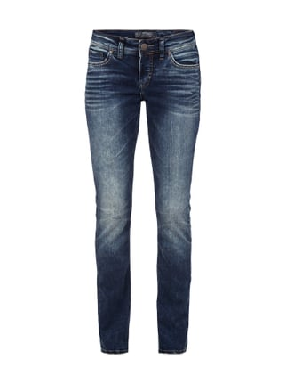 Suki Mid Slim - Vintage Washed Slim Fit Jeans - super stretch Blau / Türkis - 1
