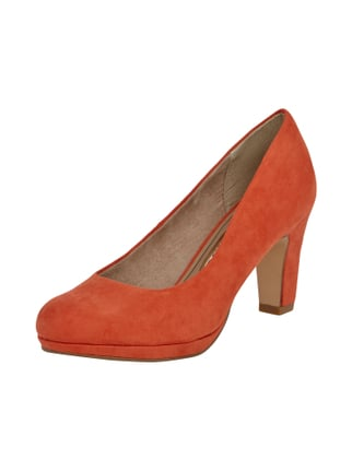 Pumps mit Blockabsatz Rot - 1