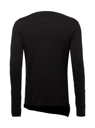 Tigha Longsleeve im Destroyed Look Schwarz - 1