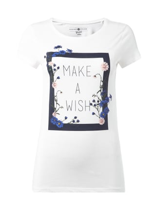 T-Shirt mit Message-Print Weiß - 1