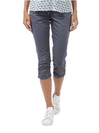 Tom Tailor Relaxed Fit Caprihose mit Crinkle-Effekt Graphit - 1