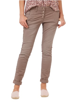 Tom Tailor Relaxed Tapered Fit Jeans mit Knopfleiste Mittelgrau - 1