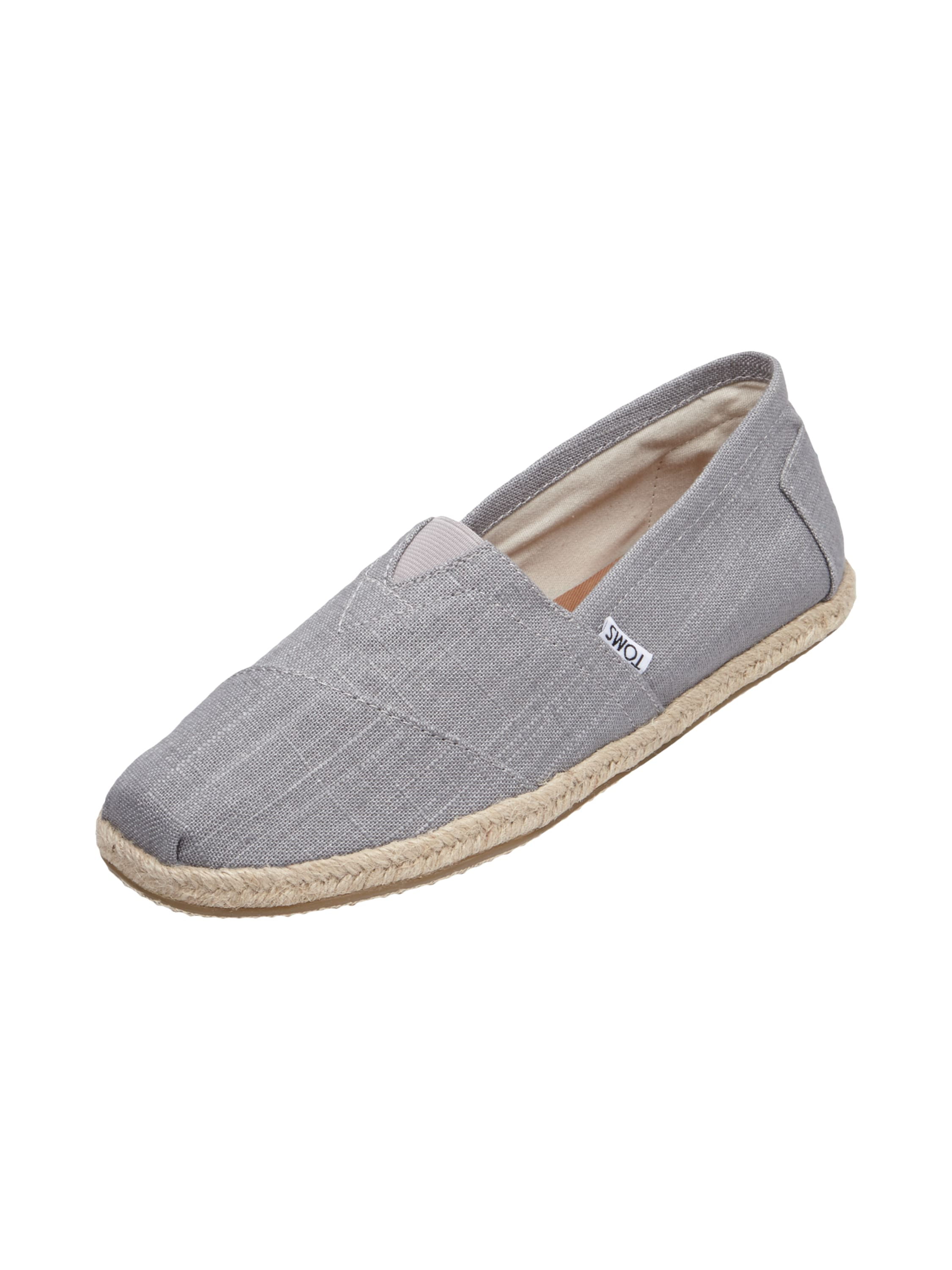 toms espadrilles aus leinen in grau schwarz online entdecken 9446447 p c at online. Black Bedroom Furniture Sets. Home Design Ideas