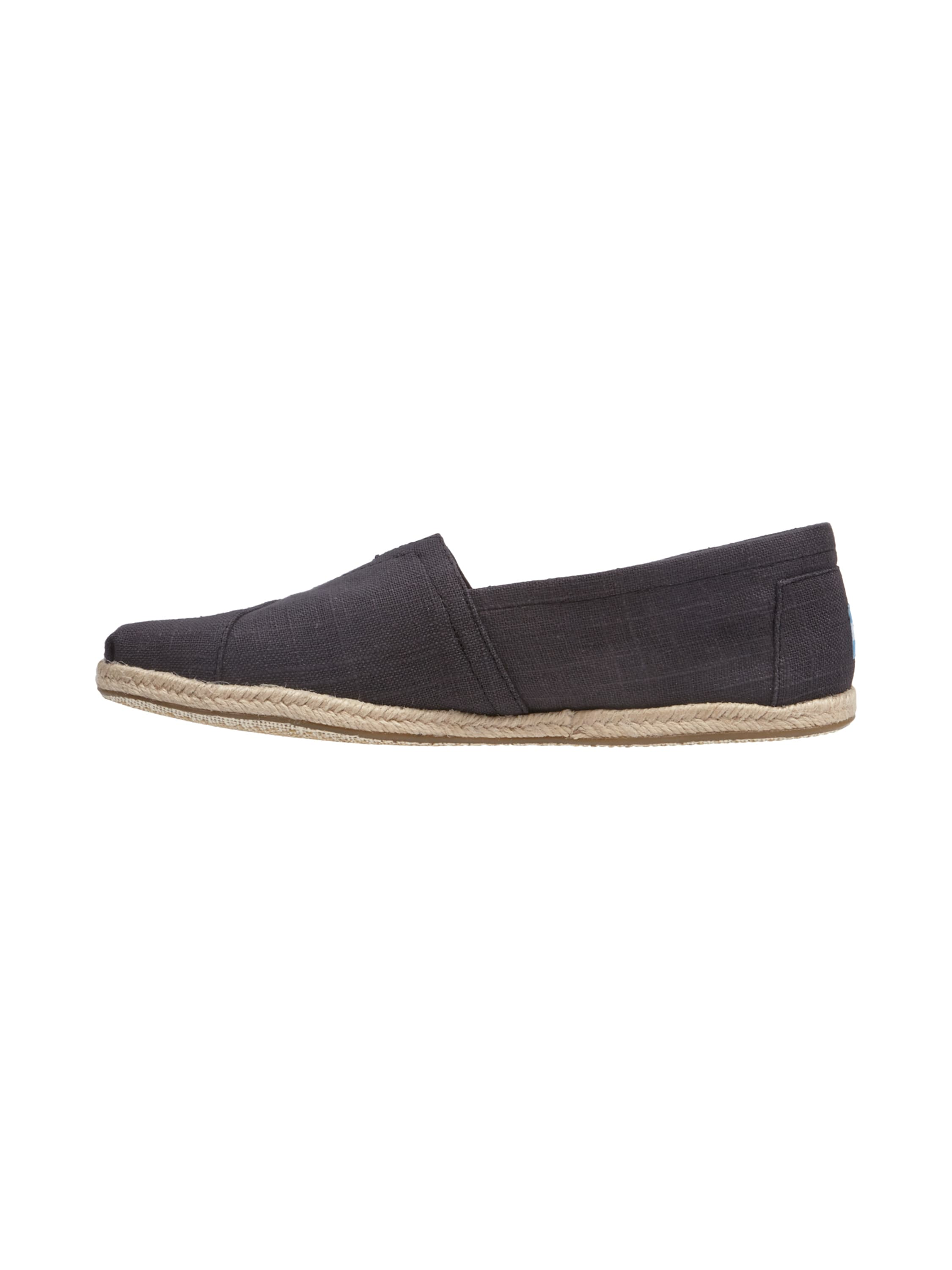 toms espadrilles aus leinen in grau schwarz online entdecken 9446446 p c online. Black Bedroom Furniture Sets. Home Design Ideas