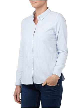 Vero Moda Oxfordbluse mit Button-Down-Kragen Bleu - 1