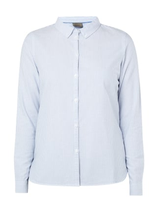 Oxfordbluse mit Button-Down-Kragen Blau / Türkis - 1