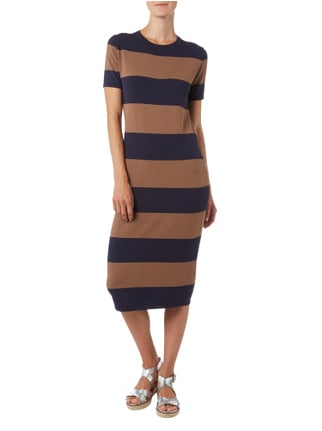 Weekend Max Mara Strickkleid mit Blockstreifenmuster in Blau / Türkis - 1