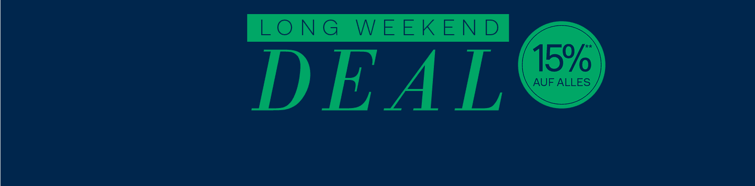 Sale Aktion - Long Weekend Deal