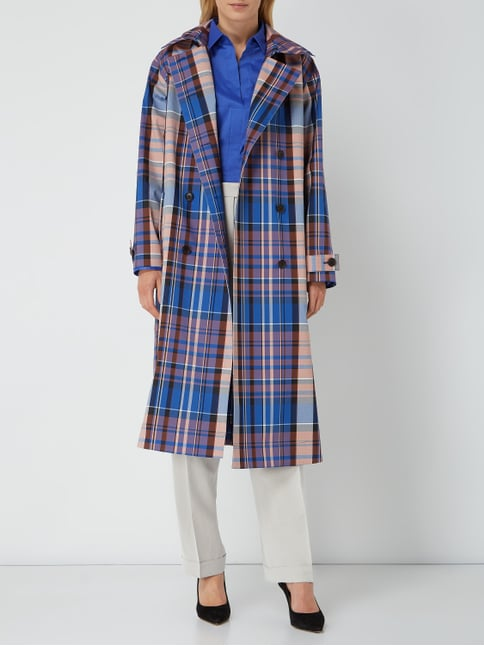 quality design 1686a dd681 Checkinada - Trenchcoat mit Tartan-Karo