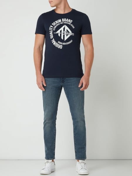 TOM TAILOR DENIM T-Shirt mit Print in Blau / Türkis online kaufen