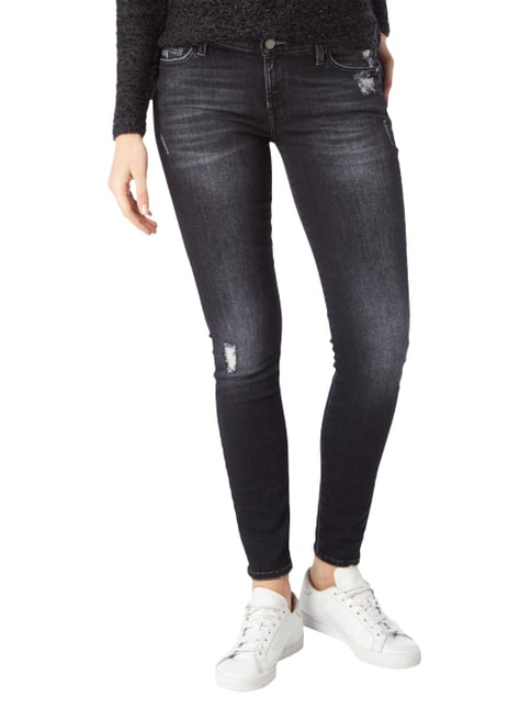7 for all mankind Destroyed Look Skinny Fit Jeans Anthrazit - 1