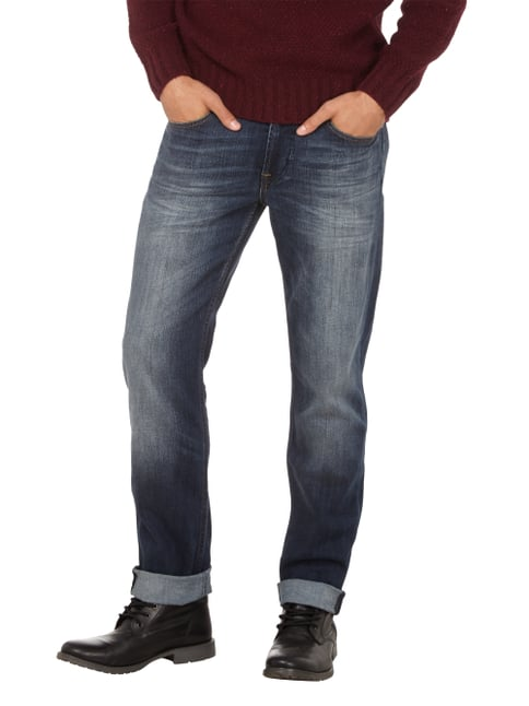 7 for all mankind Slim Fit 5-Pocket-Jeans mit Kontrastnähten Dunkelblau - 1