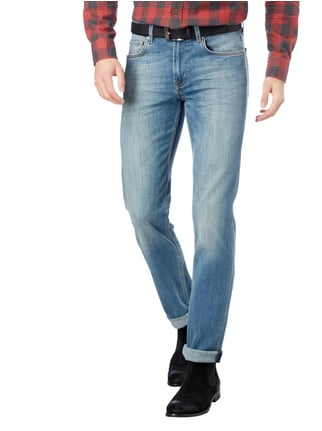 7 for all mankind Stone Washed Slim Fit 5-Pocket-Jeans Bleu - 1