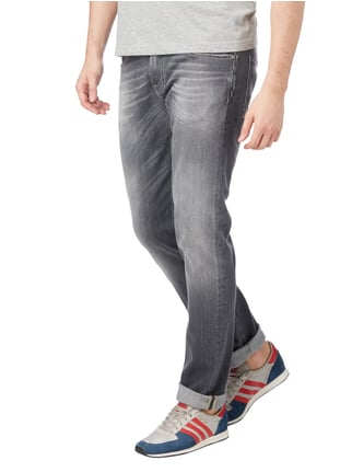 7 for all mankind Stone Washed Slim Fit 5-Pocket-Jeans Mittelgrau meliert - 1
