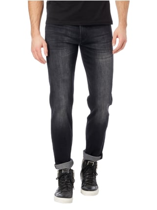 7 for all mankind Stone Washed Slim Fit Jeans mit Stretch-Anteil Schwarz - 1