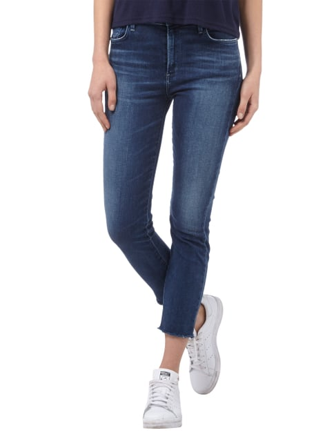 A Gold E Cropped Stone Washed Jeans Blau - 1
