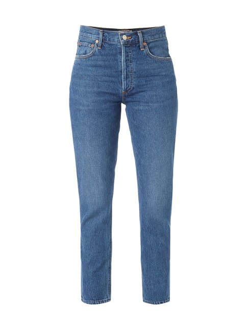 Loose Fit Jeans im Used Look Blau / Türkis - 1