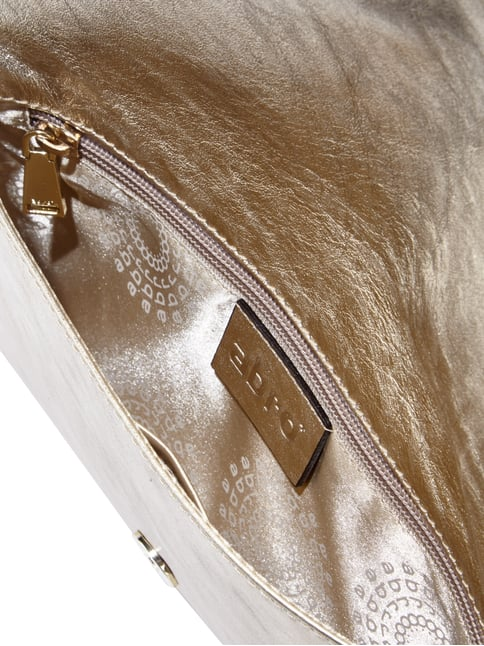Abro Clutch aus Rindsleder in Metallicoptik Gold - 1