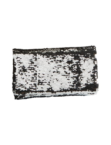 abro clutch mit wende pailletten in grau schwarz online. Black Bedroom Furniture Sets. Home Design Ideas