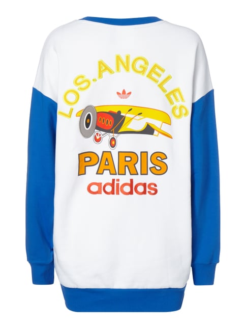 adidas Originals Sweatshirt mit Stickereien Royalblau - 1