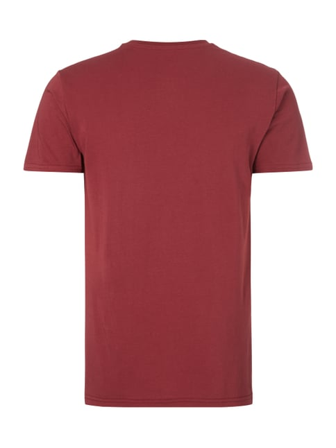 Alpha Industries T-Shirt mit Logo-Print Bordeaux Rot - 1