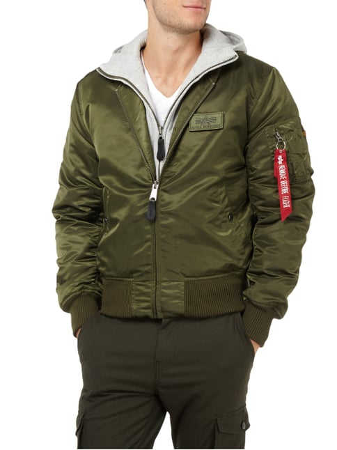 Alpha Industries Bomber im 2-in-1-Look - wattiert Dunkelgrün - 1