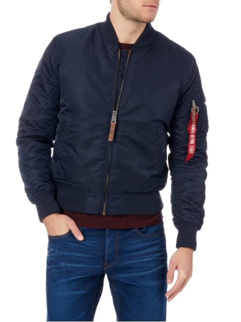 Alpha Industries Bomber mit Wattierung Marineblau - 1