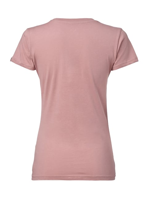 Alpha Industries T-Shirt mit Logo-Print Rosé - 1