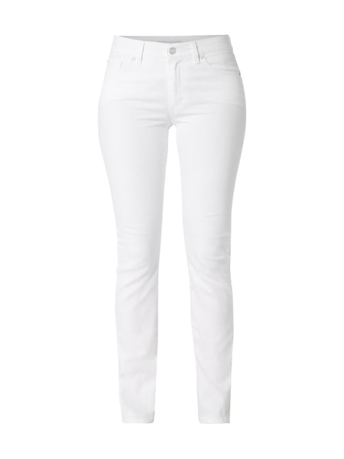 Coloured Straight Fit Jeans Weiß - 1