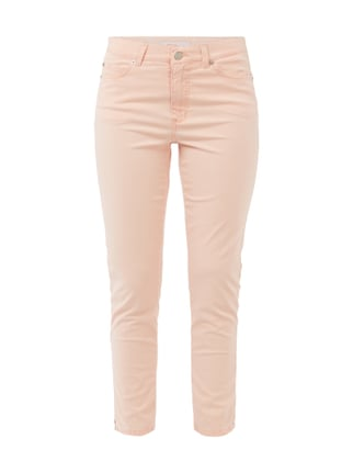 Slim Fit 5-Pocket-Hose im Washed Out-Look Orange - 1