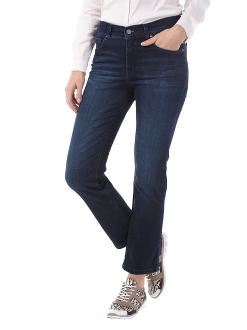 Angels Stone Washed 5-Pocket-Jeans mit Stretch-Anteil Dunkelblau meliert - 1