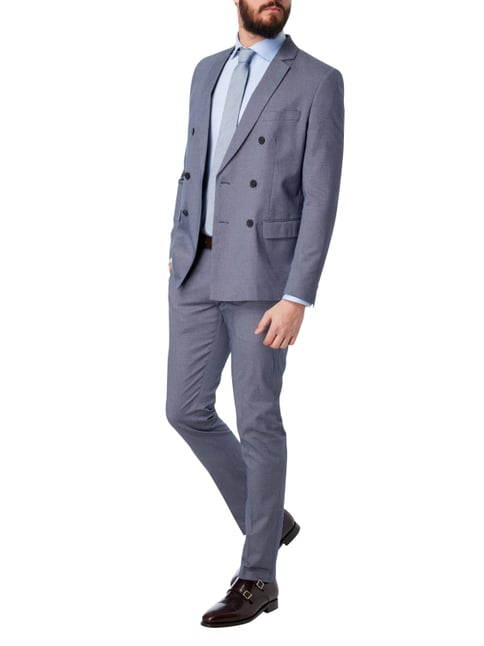 Antony Morato Slim Fit Business-Hose mit Webmuster in Blau / Türkis - 1
