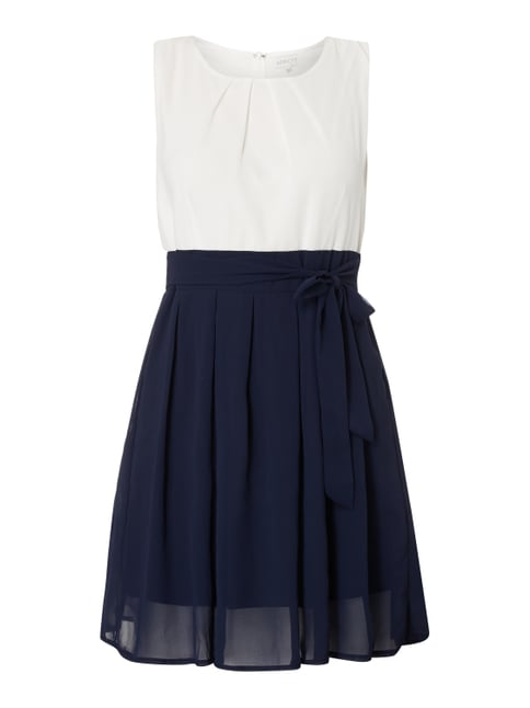 Kleid in Two-Tone-Machart Blau / Türkis - 1