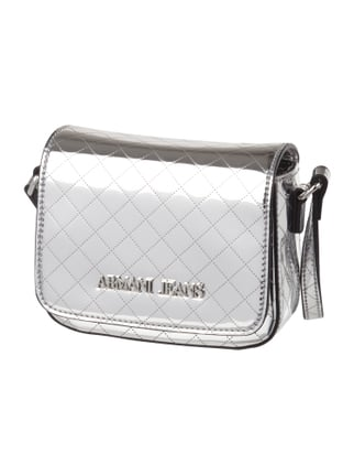 Crossbody Bag in Metallicoptik Grau / Schwarz - 1