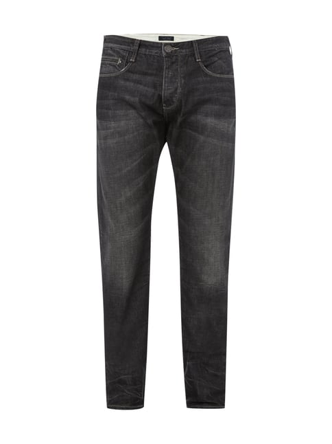 Regular Fit Double Stone Washed Jeans Grau / Schwarz - 1