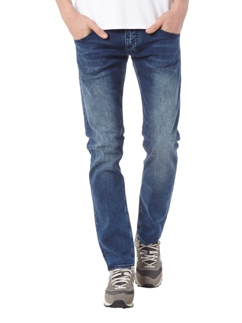Armani Jeans Slim Fit Jeans im Double Stone Washed-Look Blau - 1