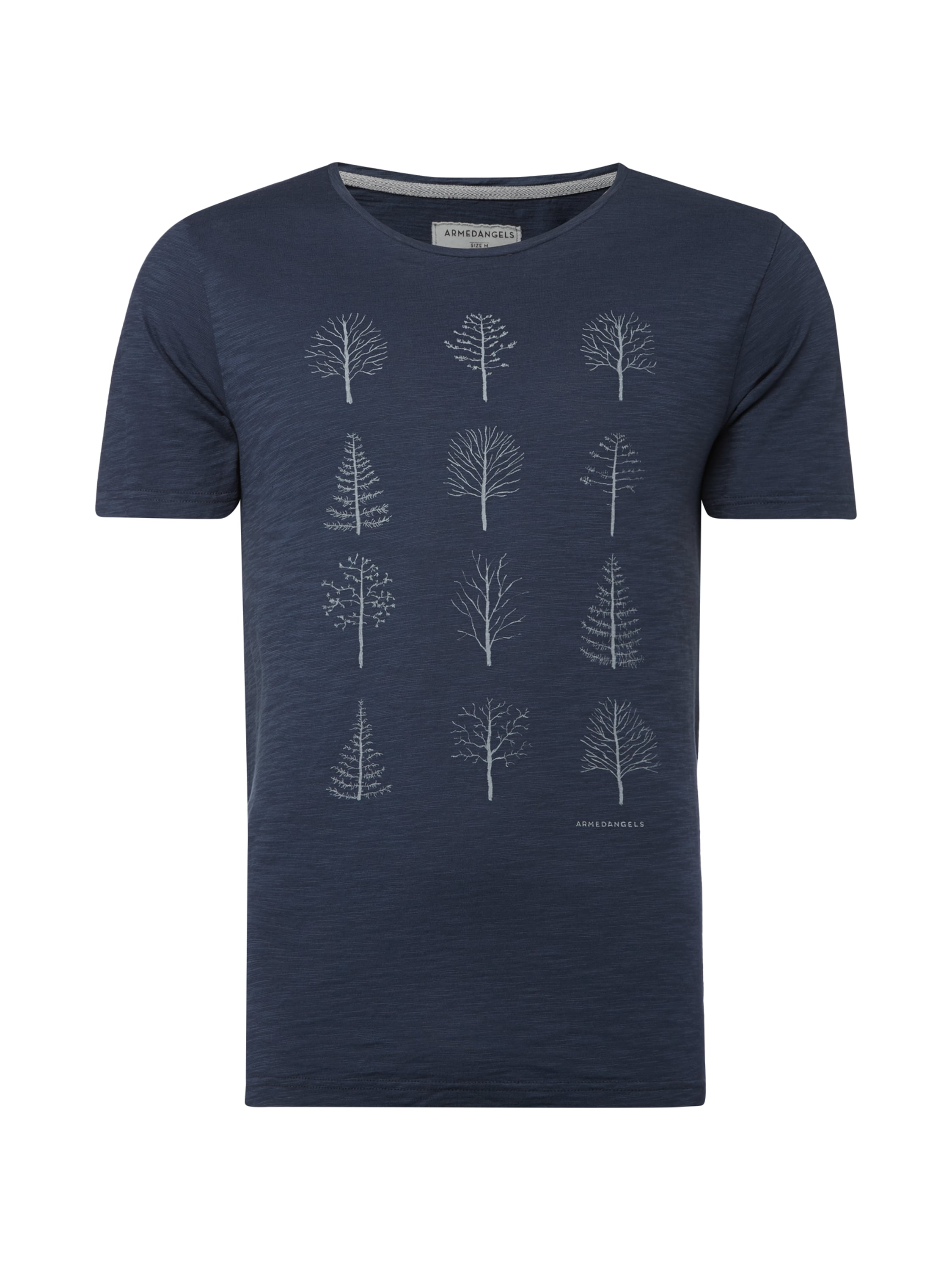 armedangels t shirt mit baum prints in blau t rkis. Black Bedroom Furniture Sets. Home Design Ideas