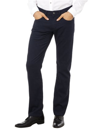 Baldessarini Regular Fit 5-Pocket-Hose mit feinem Webmuster Marineblau - 1